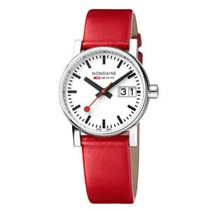 watch with red strap