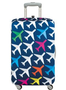 suitcase with plane design
