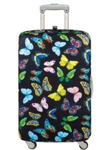 suitcase with butterflies