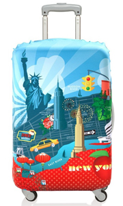 suitcase with new york design