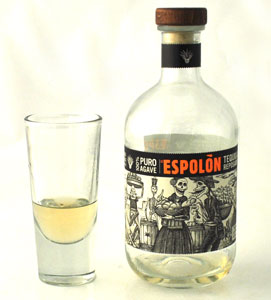 tequila bottle and glass
