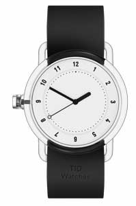 black and white watch