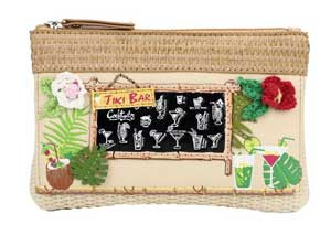 purse with bar motif