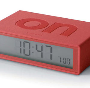 red flip alarm clock
