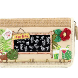 tiki bar zip purse