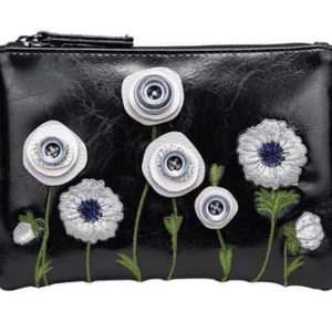 purse with white poppies