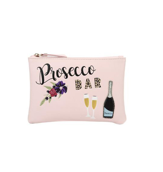 prosecco bar coin purse