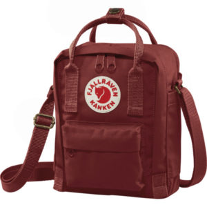 sling red backpack