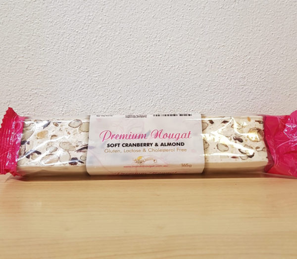 cranberry and almond nougat
