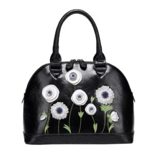 bag with white poppies