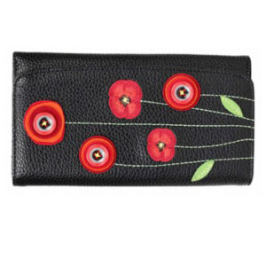 wallet with poppies
