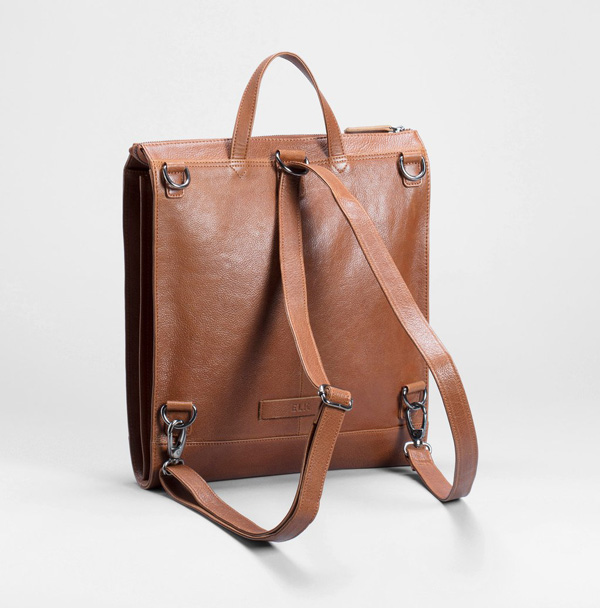 brown multiway bag