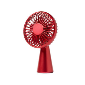 red portable fan